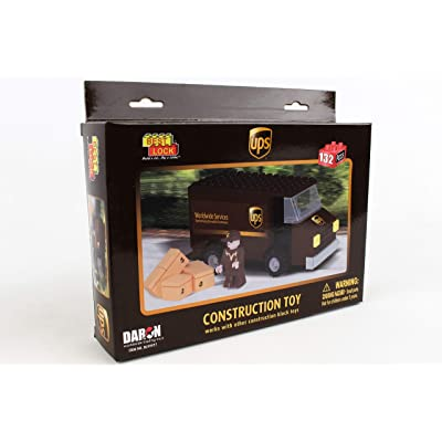 Daron BL99977 UPS 132 Piece Package Car Construction Toy: Toys & Games