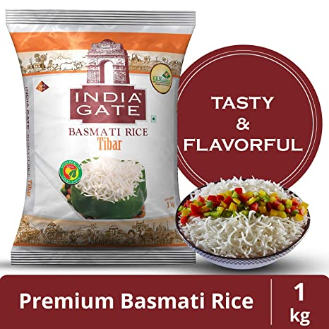 India Gate Basmati Rice Tibar, 1kg