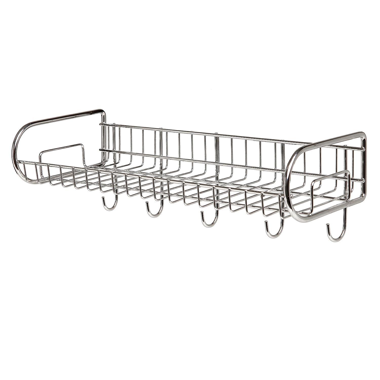 stainless steel wall mounted storage shelf    utility rack