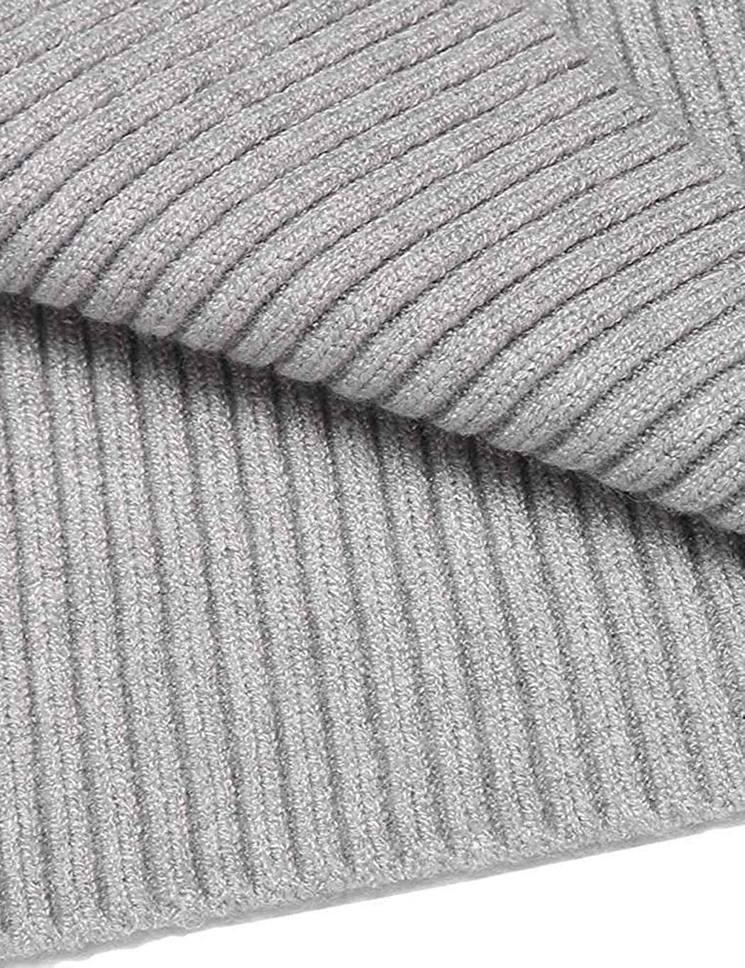wumedy Neudas Men Casual Turtle Collar Long Sleeve Solid Knitted Pullover Sweater Pullovers