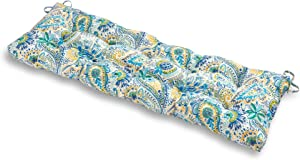 Greendale Home Fashions AZ5812-BALTIC Paisley 51-inch Outdoor Bench Cushion