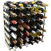 Harbour Housewares 42 Bottle Wine Rack - Fully Assembled - Light Wood