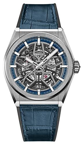 Zenith Defy 95.9000.670/78.R584 - Reloj de Pulsera (Titanio), Color Azul: Zenith: Amazon.es: Relojes