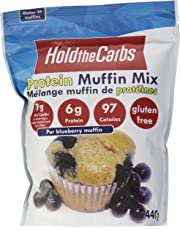 HoldTheCarbs Low Carb Protein Muffin Mix with Stevia and Erythritol, 440g