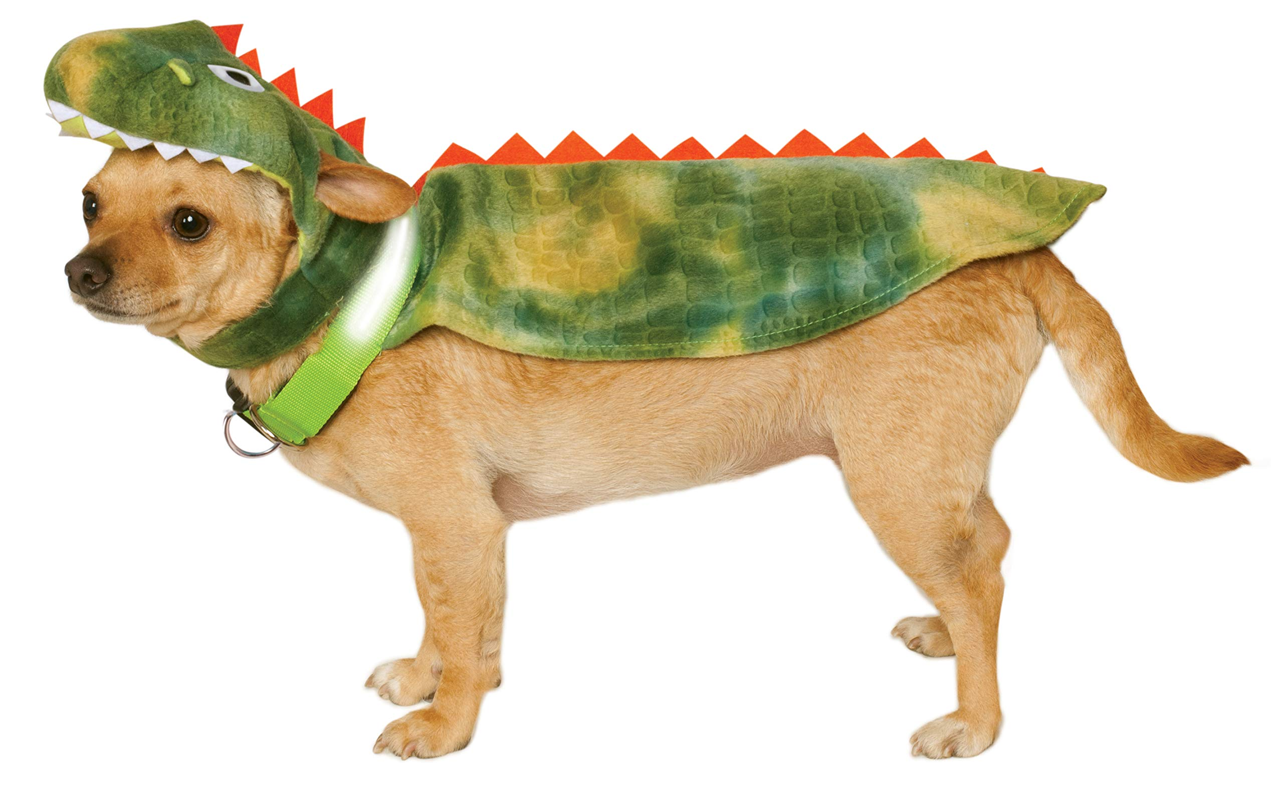 Rubie's Dinosaur Cape with Headpiece and Light-Up Collar Pet Costume, Extra-Large by Rubie's