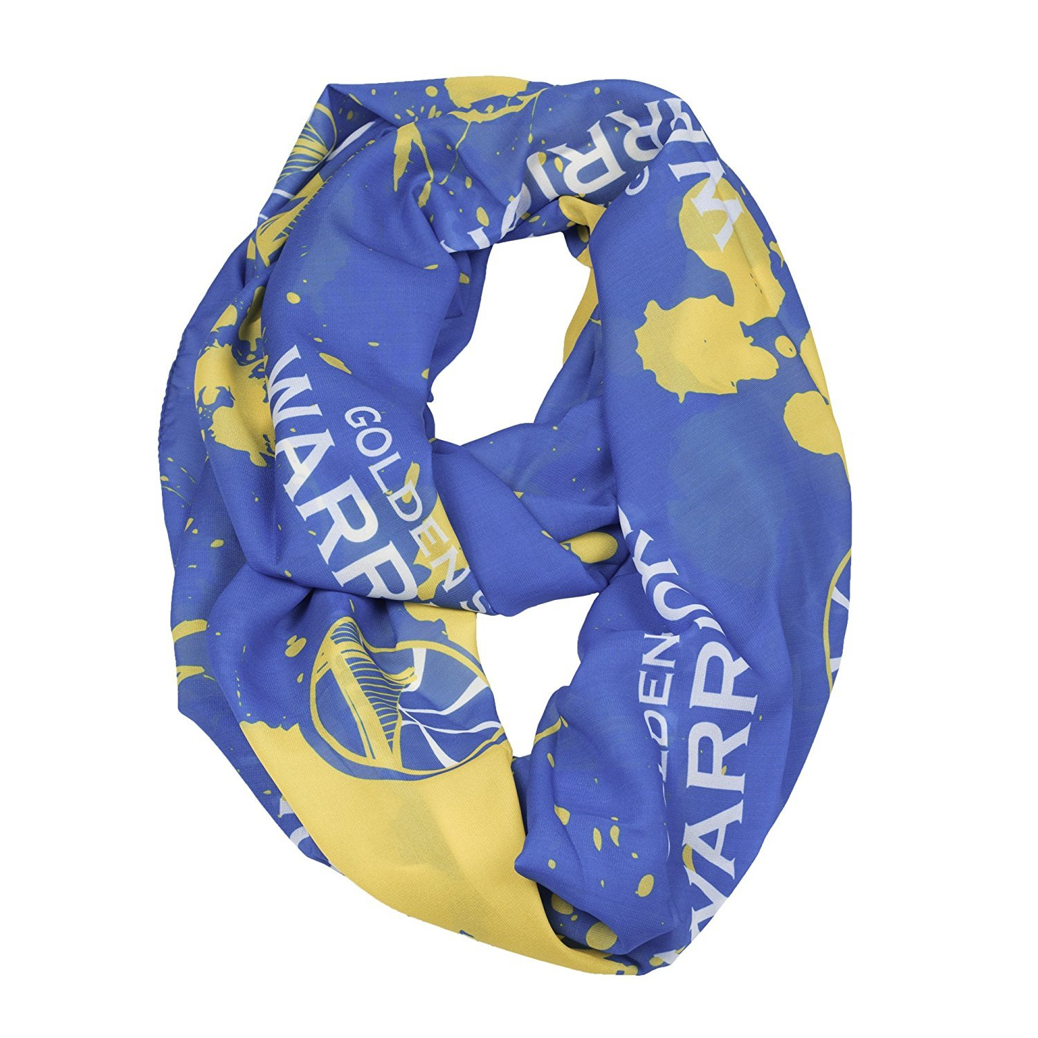 NBA Golden State Warriors Silky Spatter Infinity Scarf