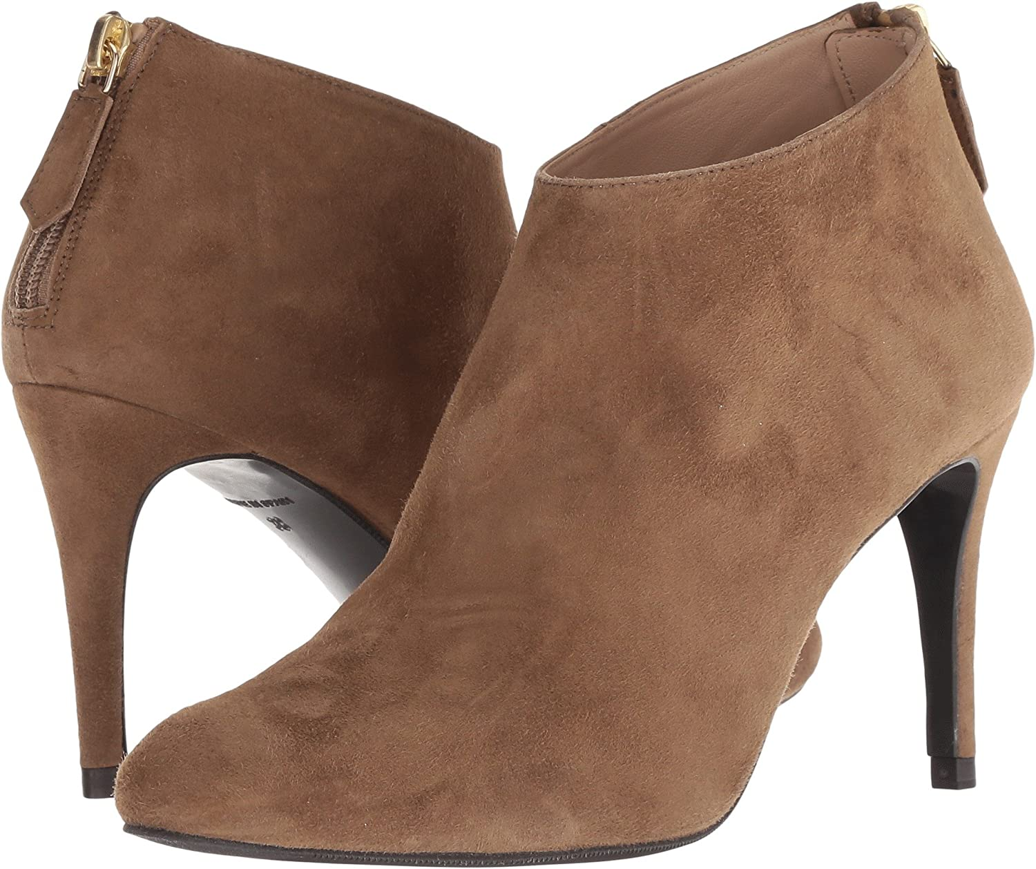 L.K. Bennett Women's Emily Ankle Boot B07B6754MN 39.5 M EU|Biscuit Suede