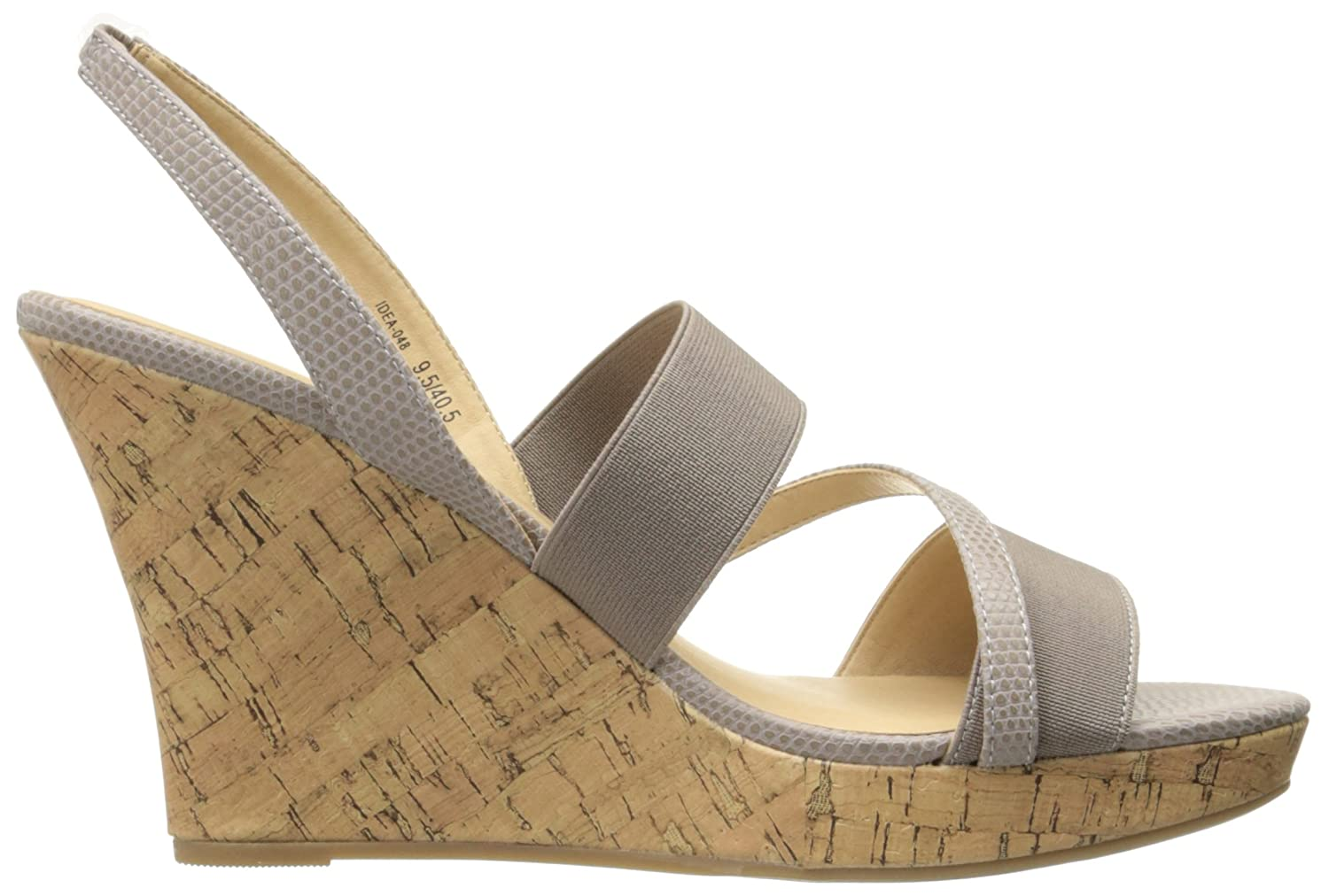 CL by Chinese Laundry Women's Intend Wedge Pump Sandal B01MZF3UL1 8 B(M) US|Taupe Lizard