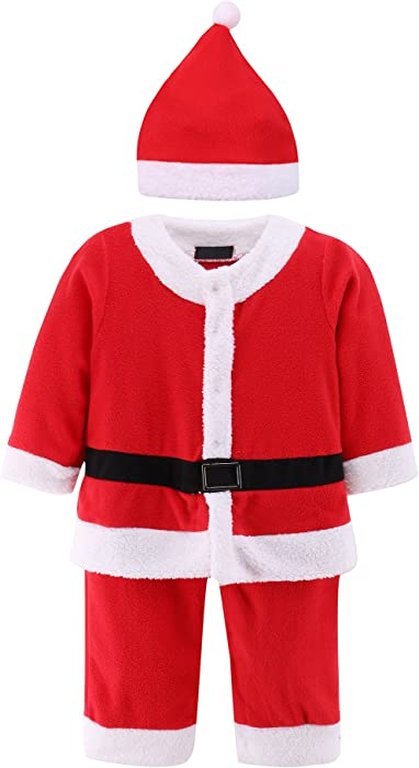 d047994d672d Amazon.com  Baby Boys Girl Christmas Santa Claus Suit 2 pcs Xmas ...