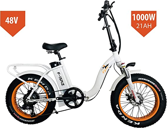 Bpmimports BPM F15RZ 1000W 21AH Fat Tire 48v Electric Bicycle Folding 20' E Bike