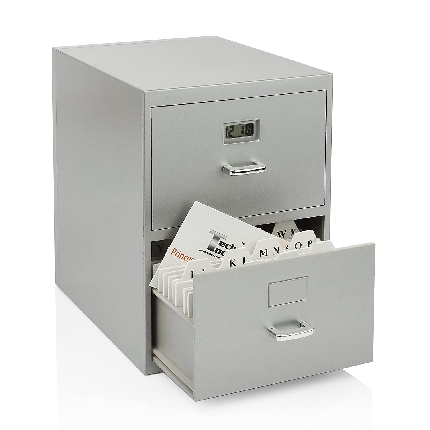 Amazon.com: Miniature File Cabinet Storage for Business Cards with ...