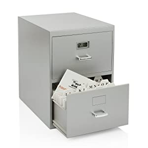 Princess Miniature File Cabinet for Business Cards with Built-In Digital Clock (PI-9617)