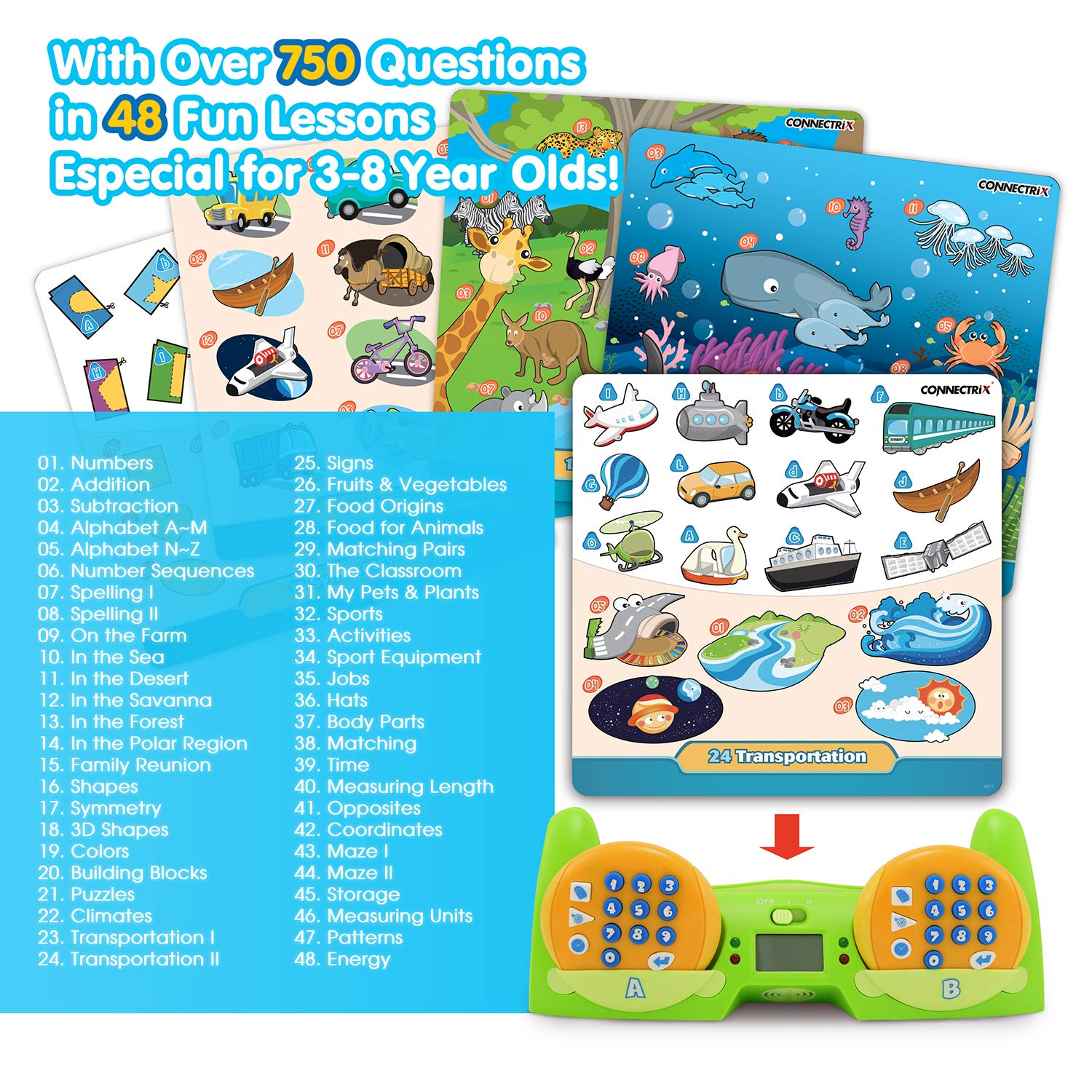 BEST LEARNING Connectrix Junior - Memory Matching Game for Kids - Original Interactive Educational Match Cards Toddler Games for 3-8 Year Olds - Classic 2-Player Concentration Card Toys for Toddlers by BEST LEARNING (Image #6)