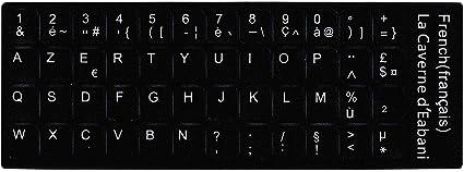 Clavier Français FR (Noir) pour ordinateur PC Portable