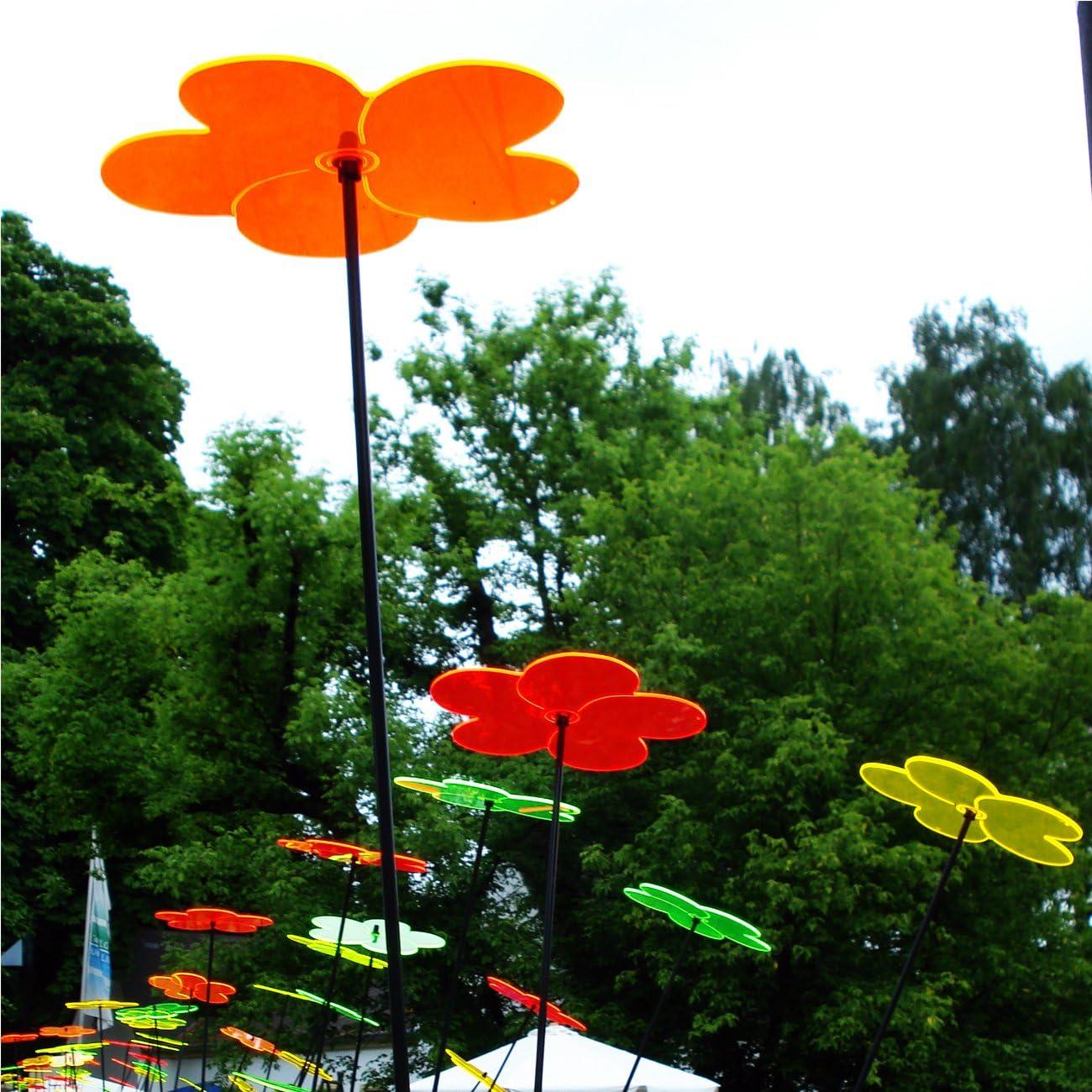 Sol atrapasueños – Juego de luz flor naranja 20 cm & # x3 C6;: Amazon.es: Jardín