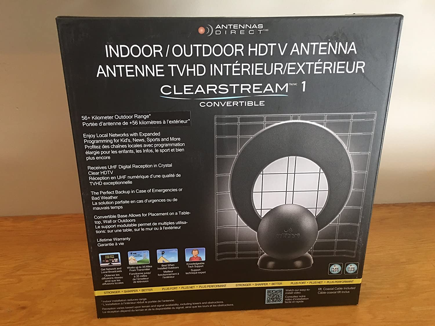 Antennas Direct Clearstream Indoor Outdoor Digital Tv Antenna  # Model Table Pour Tv