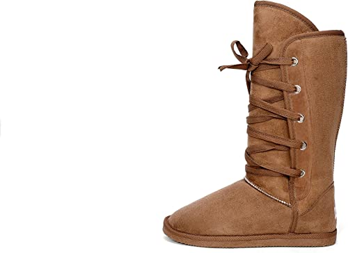 Women/'s Microfiber Boot Choose Your Size and Color Black or Brown Fleece Lined
