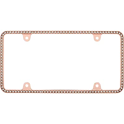 Cruiser Accessories 18000 Diamondesque License Plate Frame, Rose Gold/Clear: Automotive