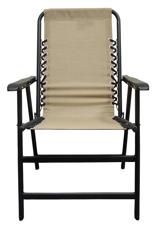 Amazon.com: Caravan Sports Suspension Folding Chair, Beige: Garden U0026 Outdoor