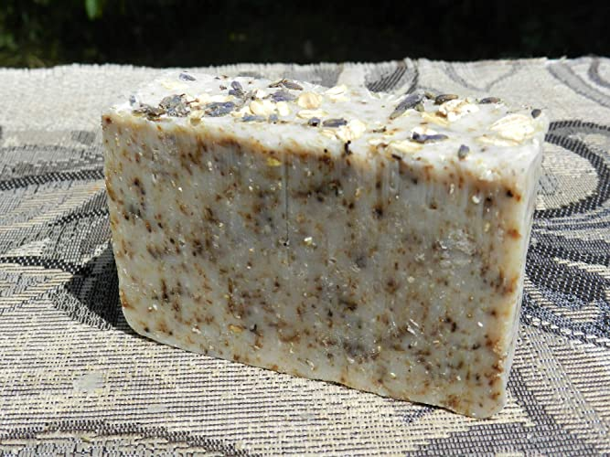 Amazon.com: English Lavender and Oatmeal Lard and Lye Bar Soap with Lavender Essential Oil Nut Free SLS Free Bar Soap: Handmade