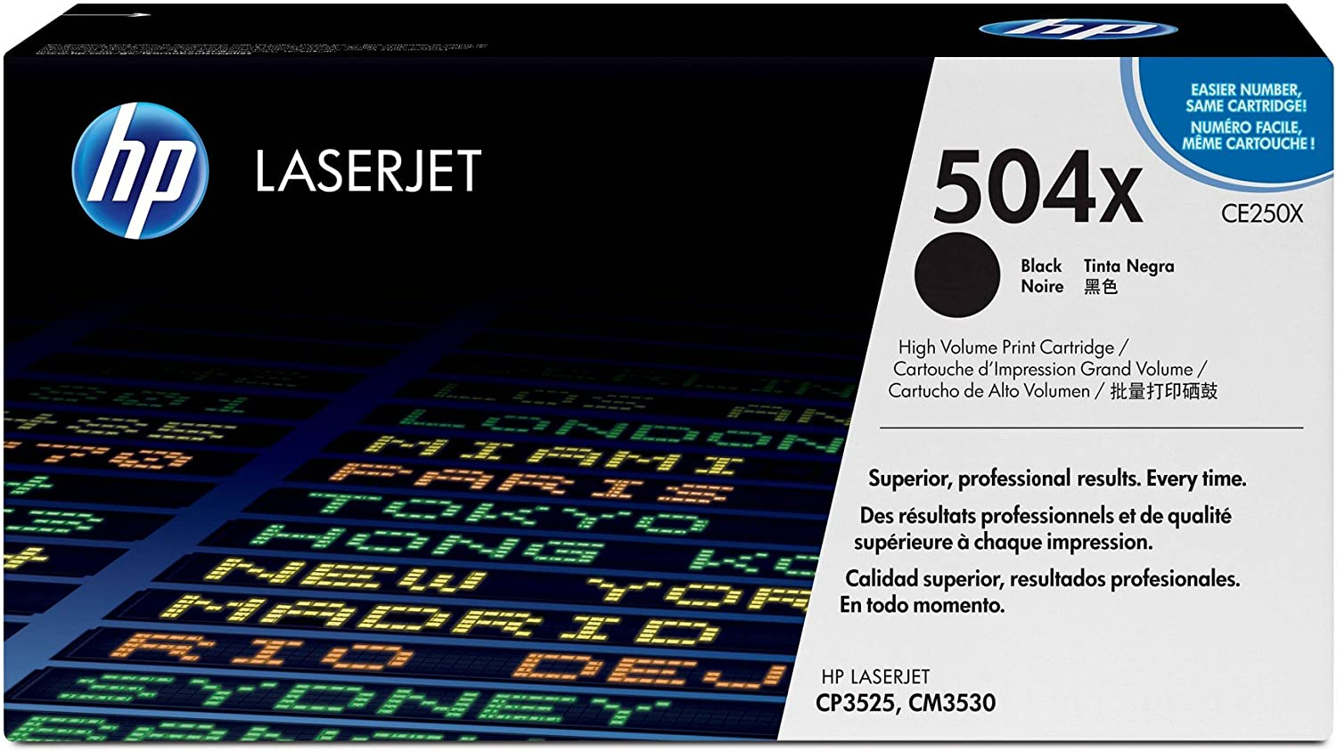 HP 504X | CE250X | Toner Cartridge | Black | High Yield