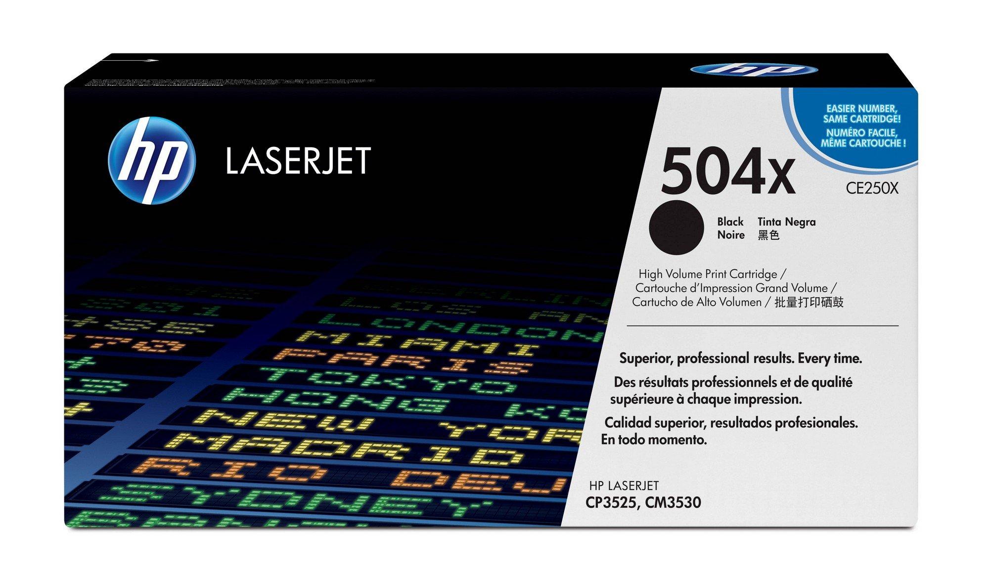 Toner Original HP 504X CE250X Black Alta Capacidad