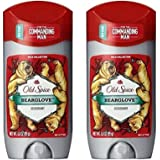 Old Spice Wild Collection Men's Deodorant, Bearglove 3 oz (Pack of 2)