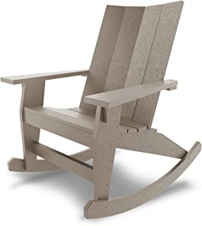 product image for Hatteras Hammocks Weatherwood Adirondack Rocker, Eco-Friendly Durawood, All Weather Resistance, Fit 'N' Finish Handcrafted in The USA