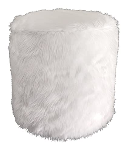 White Pouf Ottoman Unique Amazon Metje Faux Fur PoufOttoman 60Dia X 60H White Home