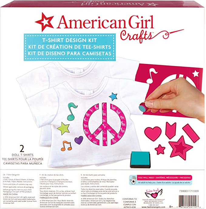 American Girl Stamping T Shirt Design Kit Fashion Angels Enterprises 24110 Printing Stamping