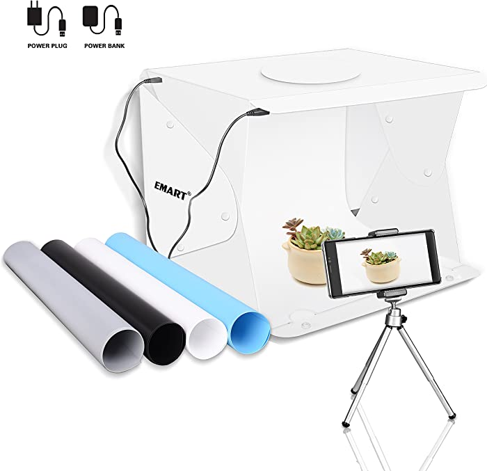 "Emart 14"" x 16"" Photography Table Top Light Box 52 LED Portable Photo Studio Shooting Tent"