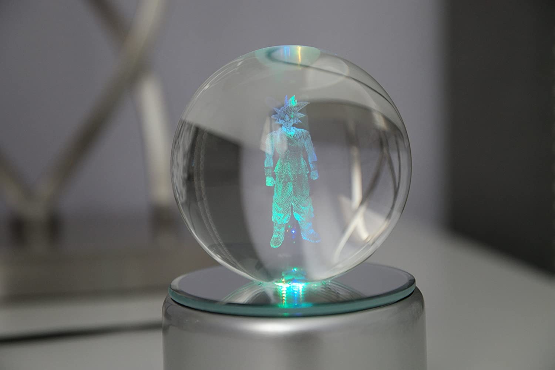 ドラゴンボールZスーパーk9クリスタル3d LED回転夜ライトレーザー刻印変更色 DB_GOKU_01 B07CRNPMFD 28920  Goku 1 Star