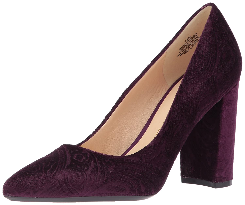 Nine West Women's Astoria Pump B06X3VHWQN 5 B(M) US|Dark Purple Fabric