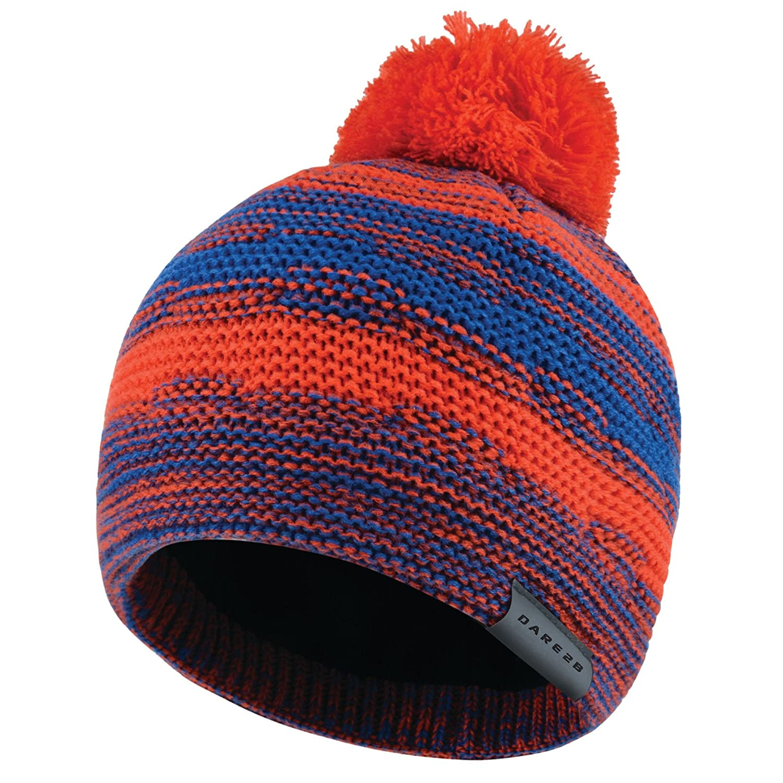 Dare 2b Boys Streetwise Knit Fleece Lined Patterned Bobble Beanie Hat