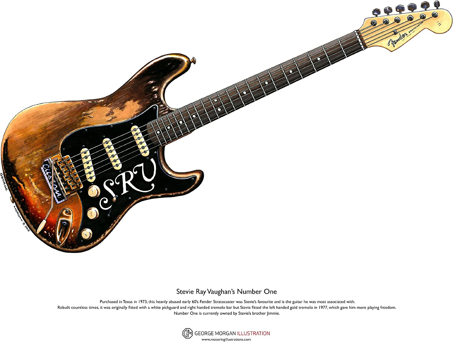 George Morgan Illustration Art Cartel de Stratocaster Número Uno ...