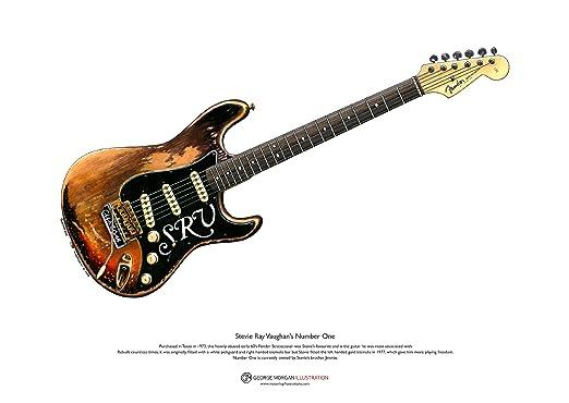 George Morgan Illustration Art Cartel de Stratocaster Número ...