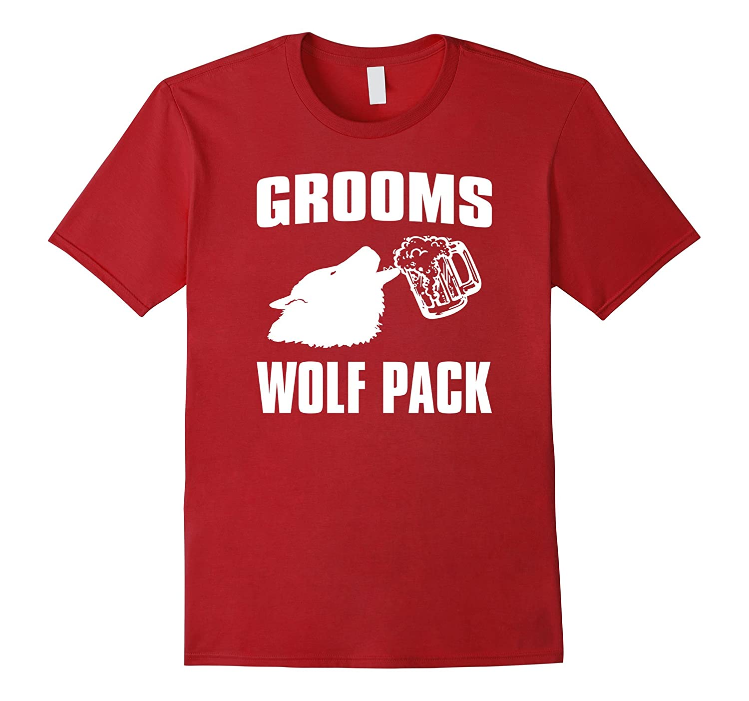 Funny Bachelor Party Shirt Grooms Wolf Pack-TD