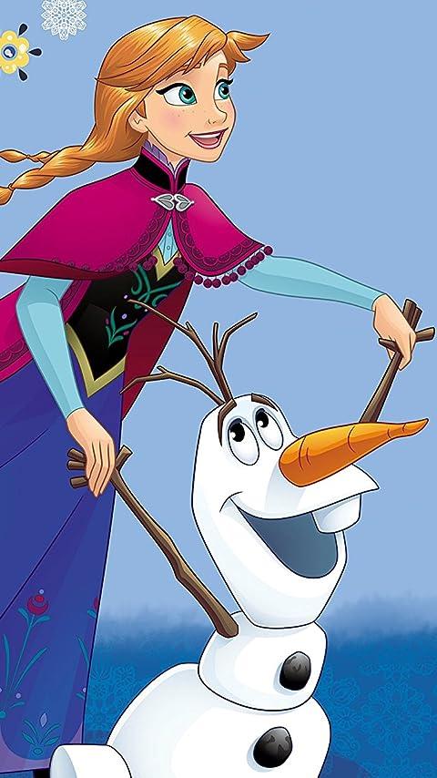 ディズニー 『アナと雪の女王』アナ,オラフ XFVGA(480×854)壁紙画像