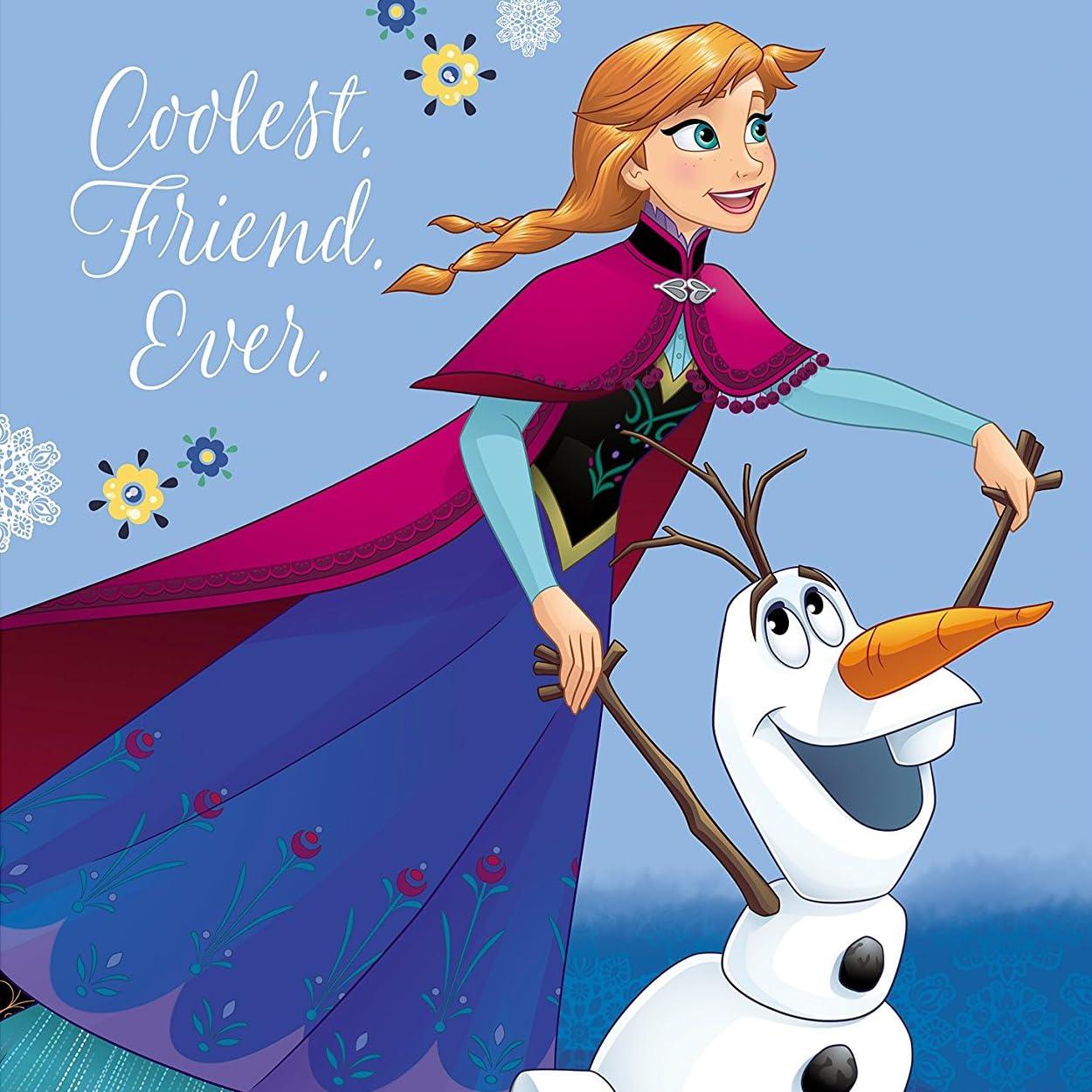 ディズニー 『アナと雪の女王』アナ,オラフ iPad壁紙画像