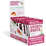SmartyPants Women's Complete Gummy Vitamins: Gluten Free, Multivitamin, CoQ10, Folate (Methylfolate), Vitamin K2, Vitamin D3, Biotin, Methyl B12, Omega 3 DHA/EPA Fish Oil, 15 count (15 Day Supply)