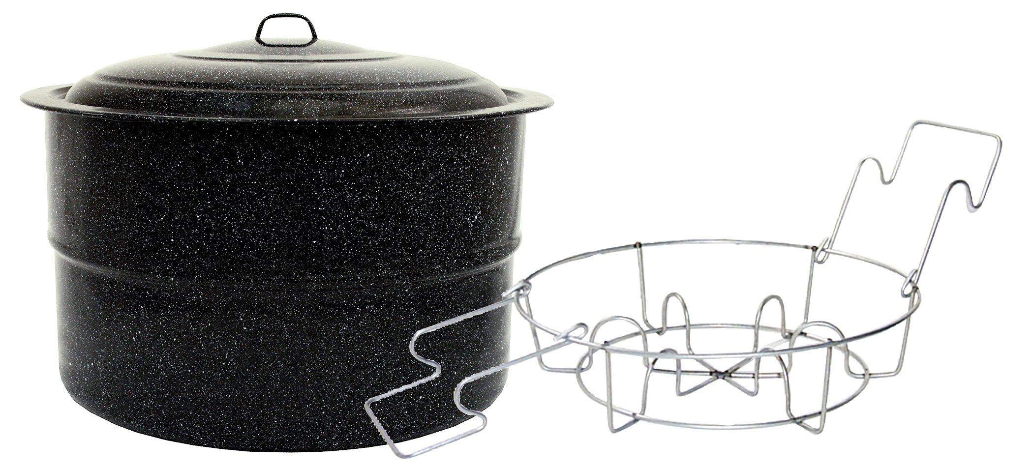 Granite Ware Jar Canner and Rack, 33-Quart