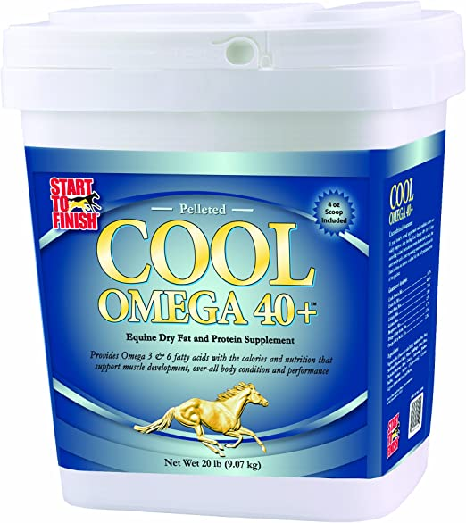 Manna Pro Cool Omega 40+   Equine Dry Fat and Protein Supplement   8 Pounds