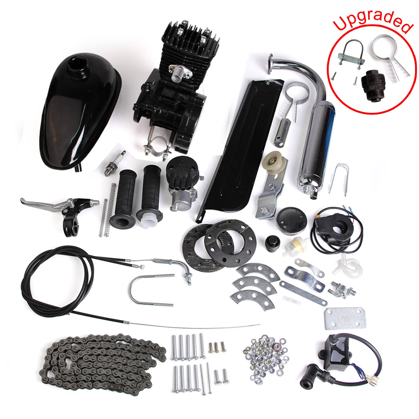 AURELIO TECH 80cc 2-Stroke Motor Engine Kit Gas for Motorized Bicycle Bike Black by AURELIO TECH