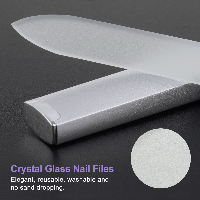 Ameauty 2 Pack Professional Crystal Glass Salon Nail File ...