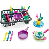 Playkidz: Super Durable Kids Play Dishes - Pretend Play Childrens Dish Set - 27 Piece