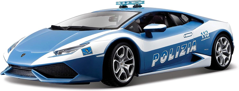1 MODELLINO BURAGO DIE//CAST POLICE SUPER CAR-AUTO POLIZIA//LAMBORGHINI GALLARDO