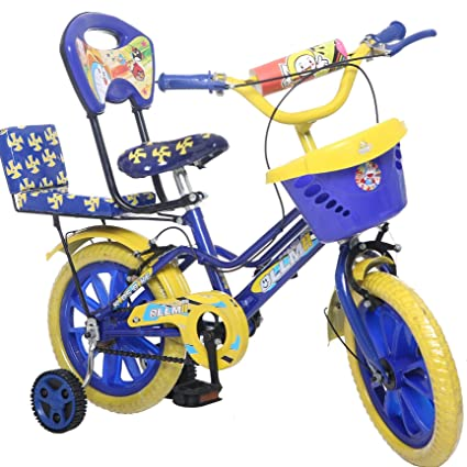 d1d343a423a eStofers Ollmii 14 inch Kid's Cycle with Side Wheels for 3 to 6 Years Age  Group (Blue)