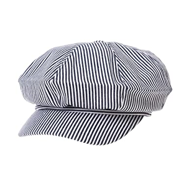 WIM Sombreros Gorras Boinas Bombines Newsboy Hat Visor Peak Stripe ...