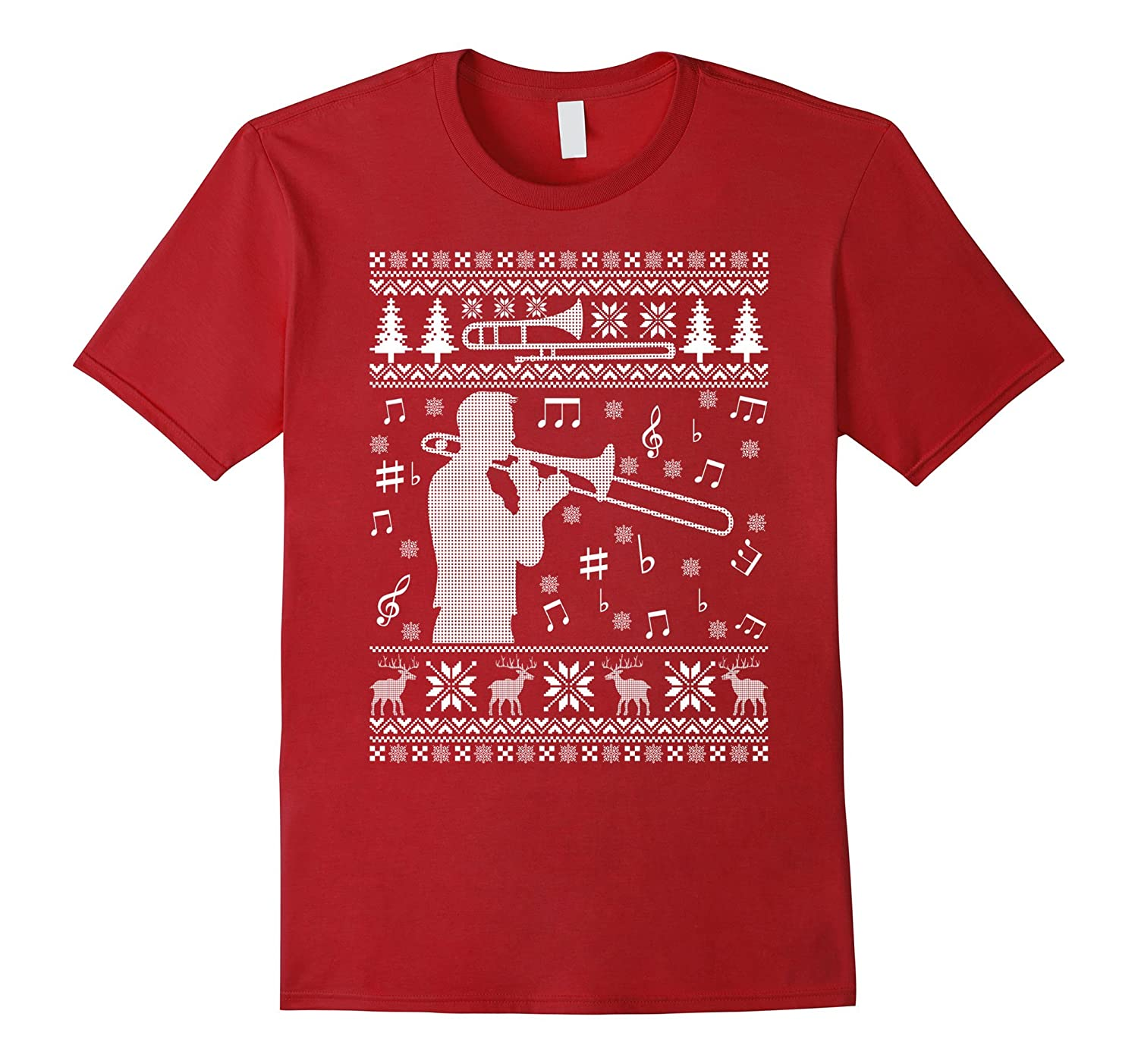 Band Ugly Christmas Sweaters.Trombone Ugly Christmas Sweater Band T Shirt Anz