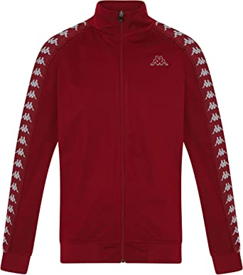 1a9c0331f8 Kappa Anniston Zip Front Track Top Red Bordeaux - Various Sizes:  Amazon.co.uk: Clothing